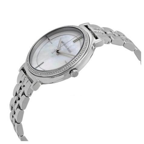 Michael Kors Cinthia Mother of Pearl Crystal Dial SilverTone Ladies Watch MK3641 Thumbnail 2