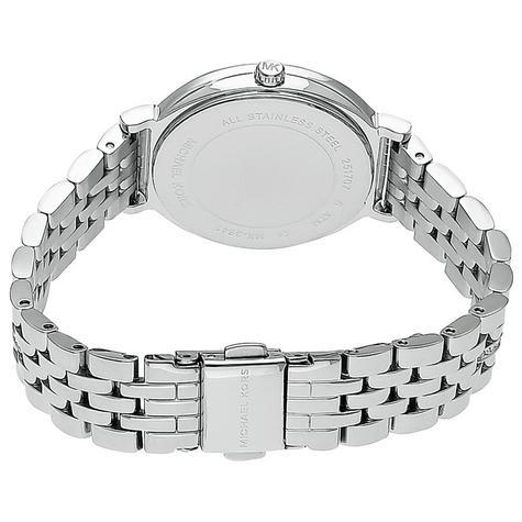 Michael Kors Cinthia Mother of Pearl Crystal Dial SilverTone Ladies Watch MK3641 Thumbnail 3
