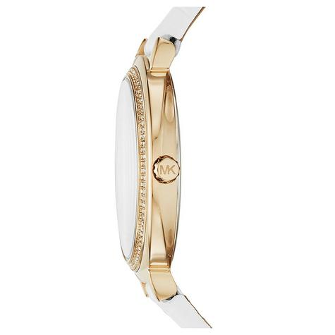 Michael Kors Cinthia White Mother Of Pearl Dial Leather Band Ladies Watch MK2662 Thumbnail 2