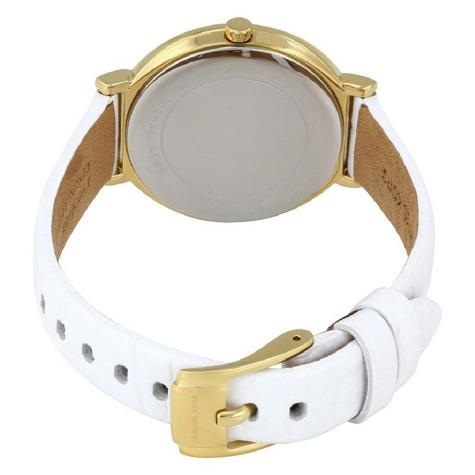 Michael Kors Cinthia White Mother Of Pearl Dial Leather Band Ladies Watch MK2662 Thumbnail 3