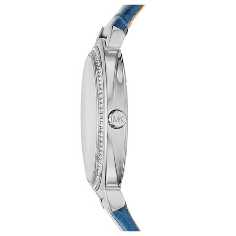 Michael Kors Cinthia White Mother Of Pearl Dial Leather Band Ladies Watch MK2661 Thumbnail 2