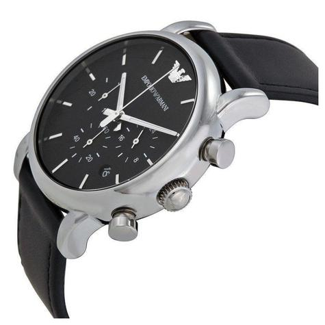 Emporio Armani Luigi Classic Men's Watch | Chronograph Dial | Leather Strap | AR1733 Thumbnail 2