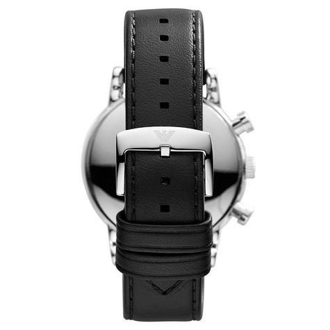 Emporio Armani Classic Chronograph Black Dial Leather Strap Men's Watch AR1733 Thumbnail 3
