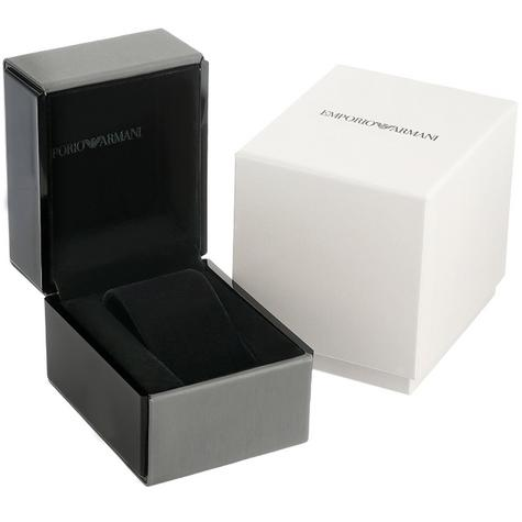 Emporio Armani Classic Chronograph Black Dial Leather Strap Men's Watch AR1733 Thumbnail 5