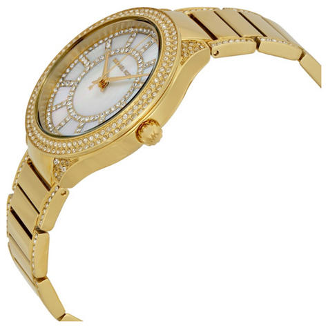 Michael Kors Kerry Mother of Pearl Crystal Dial Gold Tone Ladies Watch MK3312 Thumbnail 2