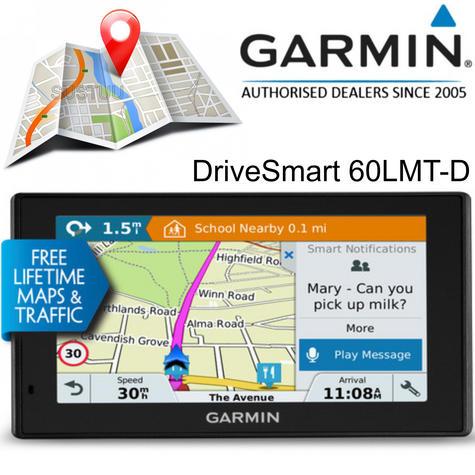 Garmin DriveSmart 60LMT-D | 6'' GPS Sat Nav | Lifetime Europe Map + Digital Traffic Thumbnail 1
