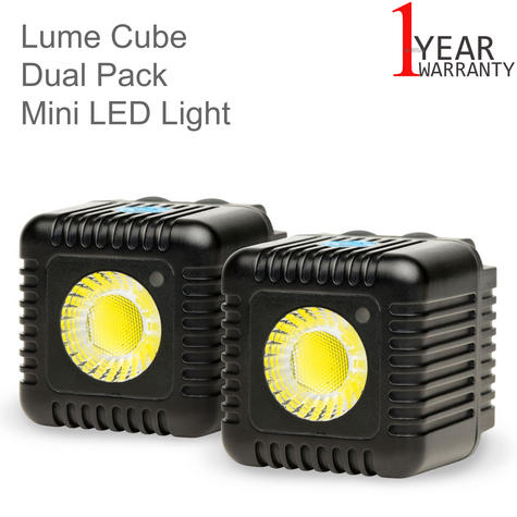 Lume Cube LC-22B Dual Cube Pack Mini Portable LED Action Light | Bluetooth Controlled | Black Thumbnail 1