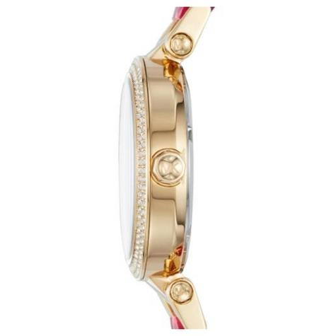 Michael Kors Parker Pink Mother Of Pearl Dial Dual Tone Band Ladies Watch MK6490 Thumbnail 2