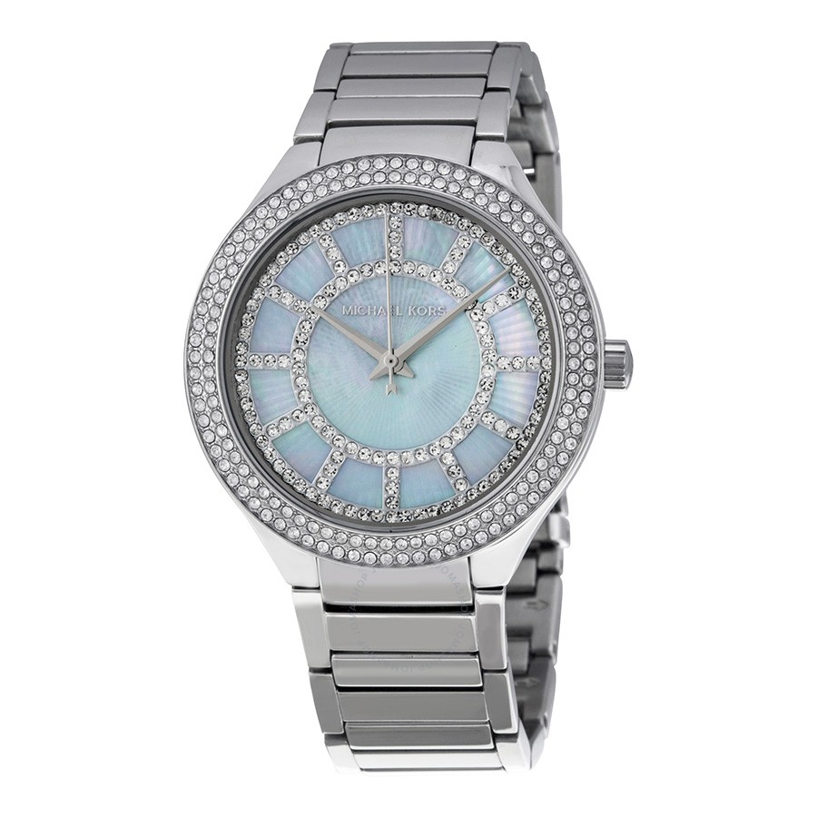 Michael Kors Kerry Mother of Pearl Dial Stainless Steel Ladies Watch MK3395 | NEW