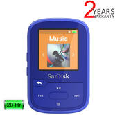 SanDisk Clip Sport Plus 16GB Wearable MP3 Player with FM Radio | Wireless | Bluetooth | Blue