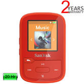 SanDisk Clip Sport Plus 16GB Wearable MP3 Player with FM Radio | Wireless | Bluetooth | Red