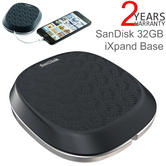 SanDisk 32GB iXpand Base | Charging & Automatic Backup | For iPhone/ iPad | Black