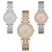 Michael Kors Mini Darci Crystal Pave Dial Stainless Bracelet Formal Ladies Watch