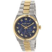 Michael Kors Mercer Channing Blue Lapis Dial 2 Tone Luxurious Women Watch MK5893
