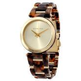 Michael Kors Delray Gold Dial Tortoise Acetate Bracelet Women's Watch MK4314