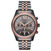 Michael Kors Lexington Grey Dial Men's Watch | Chronograph | Gunmetal Strap | MK8561