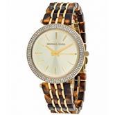 Michael Kors Darci Tortoise Shell Acetate Bracelet Gold Case Ladies Watch MK4326