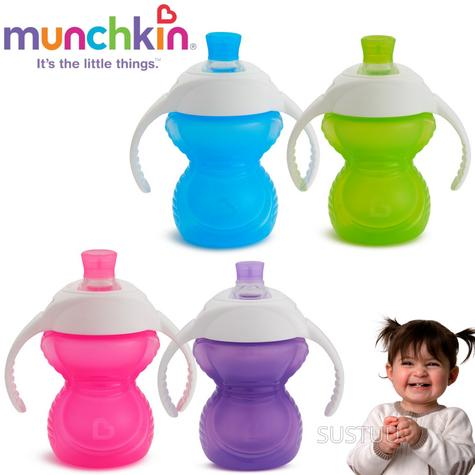 Munchkin ClickLock Chew Proof Baby's Trainer Cup | Soft Sippy Cup | Flip Straw Cup Thumbnail 1