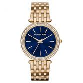 Michael Kors Darci Ladies Watch|Blue Dial Gold Stainless Steel Bracelet|MK3406|