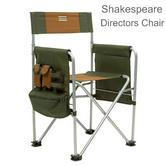 Shakespeare Directors Multipurpose Chair | For Fishing/ Hiking | Cap.130 kg | Brown/Green