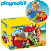 Playmobil 1.2.3 My Take Along Noah´s Ark | Baby's Interactive Playset | Floating Toy | +18 Months