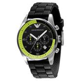 Emporio Armani Sportivo Men's Watch | Chronograph | Silicon Strap | Stainless | MK5865