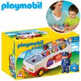 Playmobil 1.2.3 Airport Shuttle Bus | Baby's Interactive Playset | With Shape Sorter | +18 Months