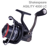 Shakespeare Unisex Agility 2 4000 Longcast Reel | Sea Fishing | 6+1 Bearing | Black