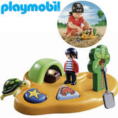 Playmobil 1.2.3 Pirate Island | Baby's Interactive Playset | With Shape Sorter Toys | +18 Months
