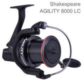 Shakespeare Unisex Agility 2 8000 Longcast Reel | Sea Fishing | 6+1 Bearing | Black