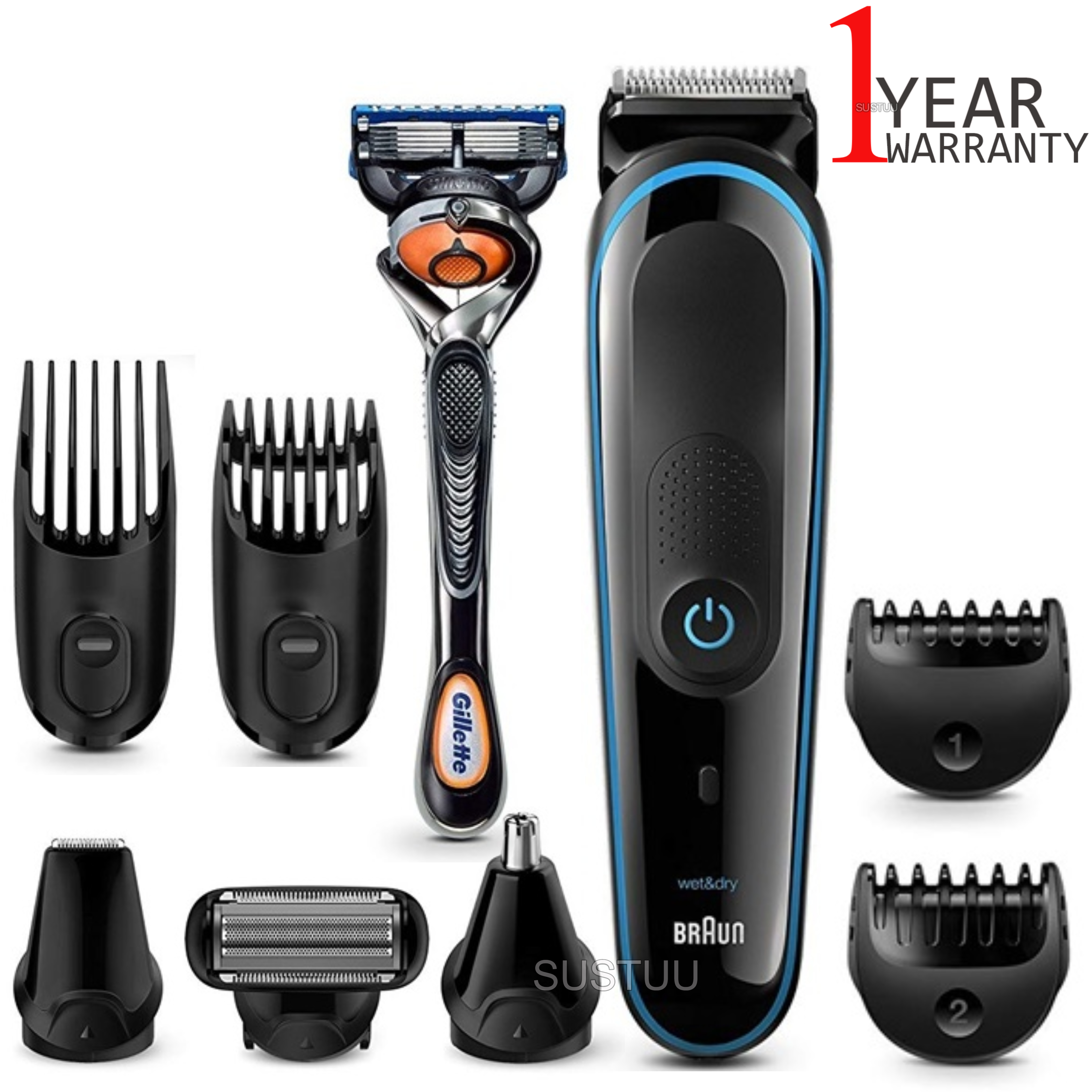 Braun Multi Grooming Kit | 9 in 1 Precision Trimmer for Beard & Hair Style | MGK3085