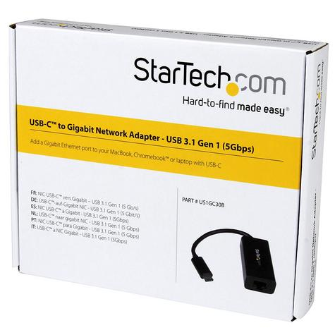 StarTech USB Type-C to Gigabit Ethernet Network Adapter Cable | Thunderbolt 3 Port Compatible Thumbnail 6