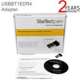 StarTech Mini USB Bluetooth 4.0 Adapter   50m (165ft) Class 1 EDR Wireless Dongle