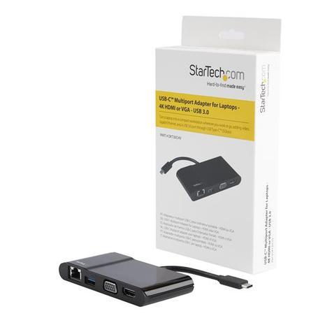 StarTech USB Type-C to 3.0/4K HDMI/VGA/Gigabit Ethernet Multiport Adapter | For Laptops Thumbnail 8