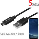 StarTech USB Type C to A Cable | 1m Lead | For Mobile Phone-Laptop-PC/Computer | Black