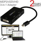 StarTech Travel A/V Adapter   3-in-1 Mini DisplayPort to VGA/DVI/HDMI Converter