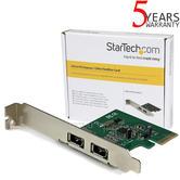 StarTech.com 2 Port 1394a PCI Express FireWire Adapter   Plug & Play   PEX1394A2V