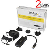 StarTech 4-Port USB 3.0 Mini Hub with Power Adapter | Mobile Phone Charging | Black