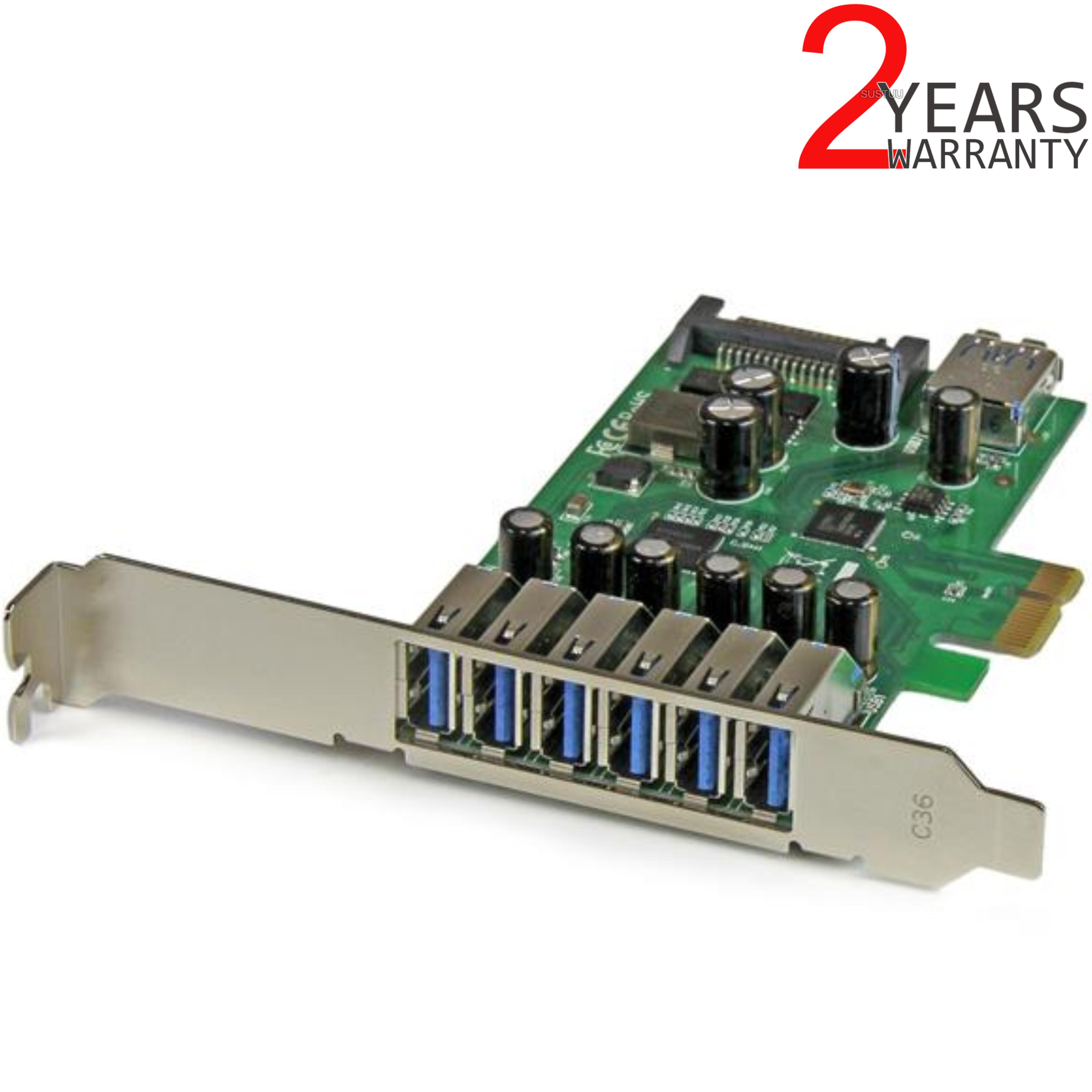 StarTech 7-Port PCI Express USB 3.0 Card | 6 External-1 Internal | Smartphone-Tablet-HDDs