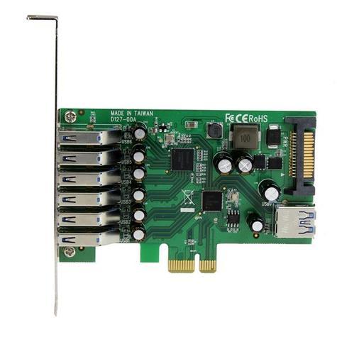 StarTech 7-Port PCI Express USB 3.0 Card | 6 External-1 Internal | Smartphone-Tablet-HDDs Thumbnail 2