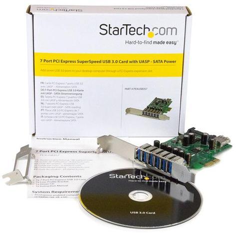 StarTech 7-Port PCI Express USB 3.0 Card | 6 External-1 Internal | Smartphone-Tablet-HDDs Thumbnail 5