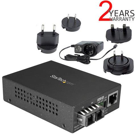 StarTech.com Gigabit Ethernet to SC Fiber Media Converter | 1000Base-LX | MCMGBSCSM1 Thumbnail 1
