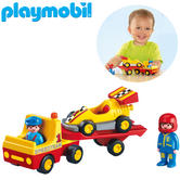 Playmobil 1.2.3 Tow Truck with Race Car | Baby's Interactive Playset | Realitic Toys | +18 Months