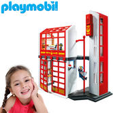 Playmobil Fire Station With Alarm | Baby's Interactive Playset | Realitic Toys | +5 Years