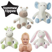 Tommee Tippee Breathable Toy | Washable Soft Toy | Elephant | Hippo | Giraffe | Bunny | +0m
