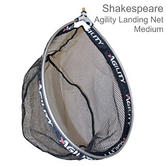 Shakespeare Agility Landing Net - Black | Carp Mesh | Strong & Adjustable | Medium