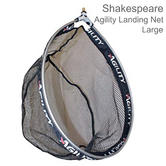 Shakespeare Agility Landing Net - Black | Carp Mesh | Strong & Adjustable | Large