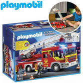 Playmobil Fire Engine with Ladder, Lights and Sounds | Interactive Playset | +5 Years