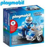 Playmobil Police Bike With LED Light | Baby/Kid's Interactive Playset | +4 Years