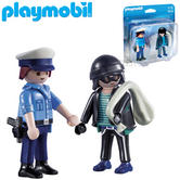 Playmobil Policeman and Burglar | Baby/Kid's Interactive Playset/toys | +4 Years